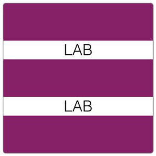 """Lab"" Large Chart Divider Tabs - Purple - 1-1/2"" H x 1-1/2"" W - 102/Pack"
