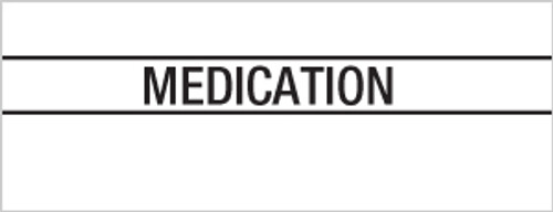 """Medication"" Large Chart Divider Tabs"