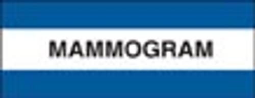 """Mammogram"" Large Chart Divider Tabs"