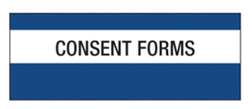 """Consent Forms"" Large Chart Divider Tabs"