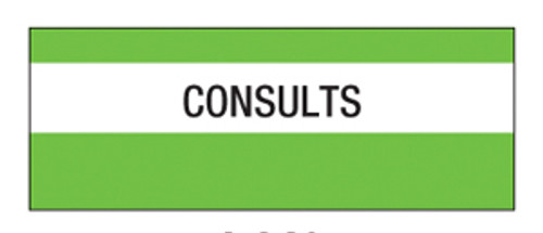 """Consults"" Large Chart Divider Tabs"