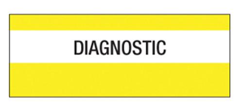 """""""Diagnostic"""" Large Chart Divider Tabs"""