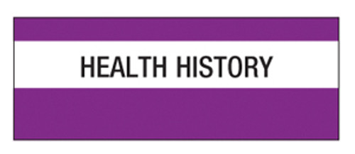"""Health History"" Large Chart Divider Tabs"