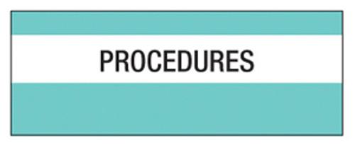 """Procedures"" Large Chart Divider Tabs"