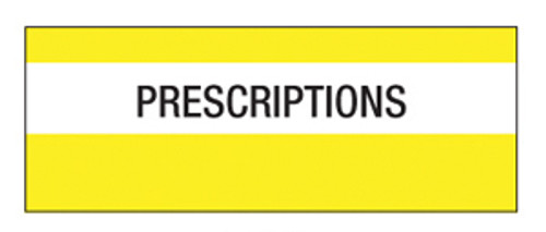 """Prescription"" Large Chart Divider Tabs"