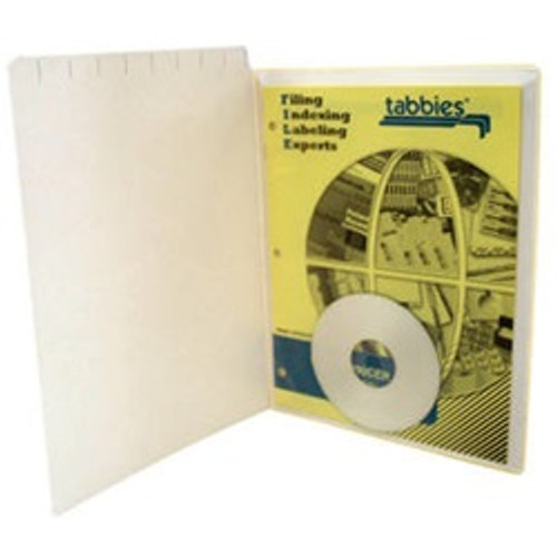 "Vinyl Pocket - Self Adhesive - Clear - 9""W x 11-1/2""H Outside Dimension - 100/Box"