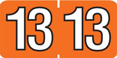Year Labels: Sycom/Barkley Compatible-250/Roll-Orange 2013