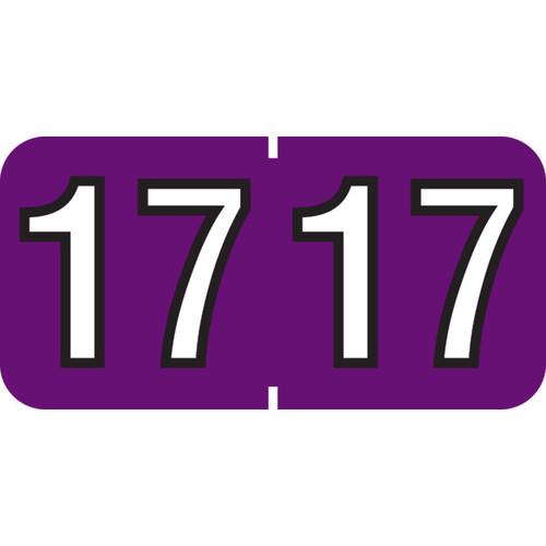 Amerifile 2017 Year Labels- Purple - 500/Roll - 398264