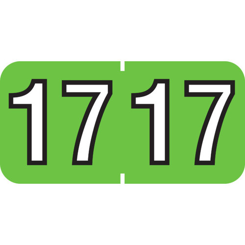 """1 1/2"""" x 3/4"""" Year Labels: Patterson Colwell Jewel Tone Compatible-Green 2017"""