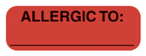 """ALLERGIC TO:"" - FL. RED"