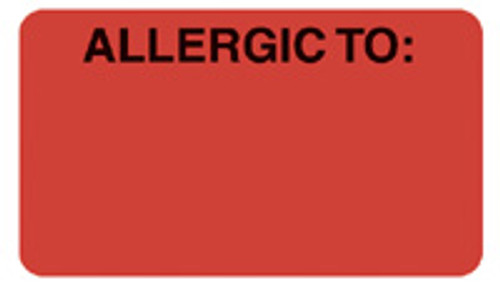 """""""ALLERGIC TO"""" - FL. RED"""