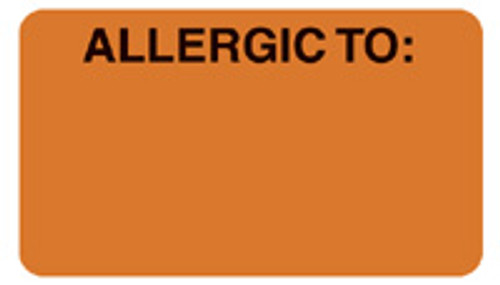 """ALLERGIC TO:"" - FL. ORANGE"