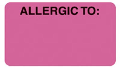 """""""ALLERGIC TO:"""" - FL. PINK"""