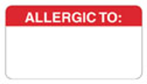 """""""ALLERGIC TO:""""-RED"""