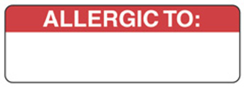 """""""ALLERGIC TO"""" - RED"""