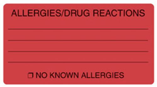 """ALLERGIES/DRUG REACT"" - FL. RED"