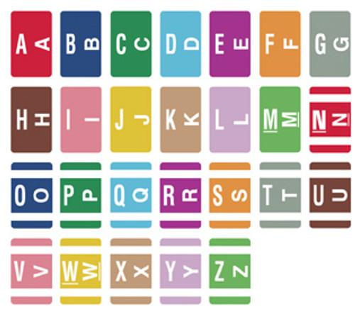 Alpha-Z Compatible Color-Coded Label Starter Set-FILE BOX