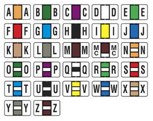 Jeter 7100 Series Compatible Alpha Label Starter Set-FILE BOX