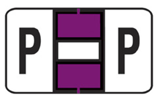 """JETER Alphabetic Labels Letter """"P"""" - 5800 Series - Purple - Sheets for Ringbook - 240 Labels Per Pack"""