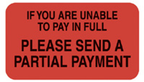 """UNABLE TO PAY"" - FL. RED"
