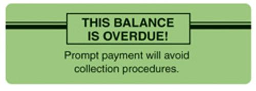 """""""BALANCE OVERDUE"""" - FL. GREEN"""