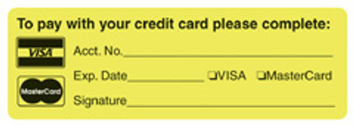 """PAY W/CREDIT CARD"" - FL. CHARTREUSE"