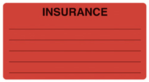 """INSURANCE"" w/Lines - FL. RED"