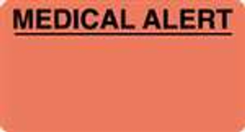 """MEDICAL ALERT"" -  3-1/4"" x 1-3/4"" - FL. RED - 250/Box"