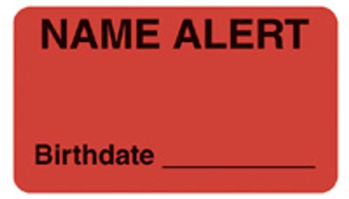 """NAME ALERT/BIRTHDATE"" - FL. RED"