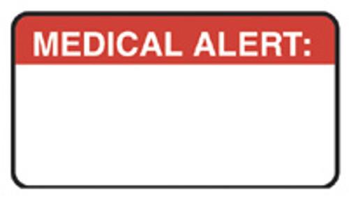 """MEDICAL ALERT:"" - RED - 1 1/2"" x 7/8"" - 250/Box"