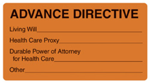 """ADVANCE DIRECTIVE"" - FL. ORANGE"