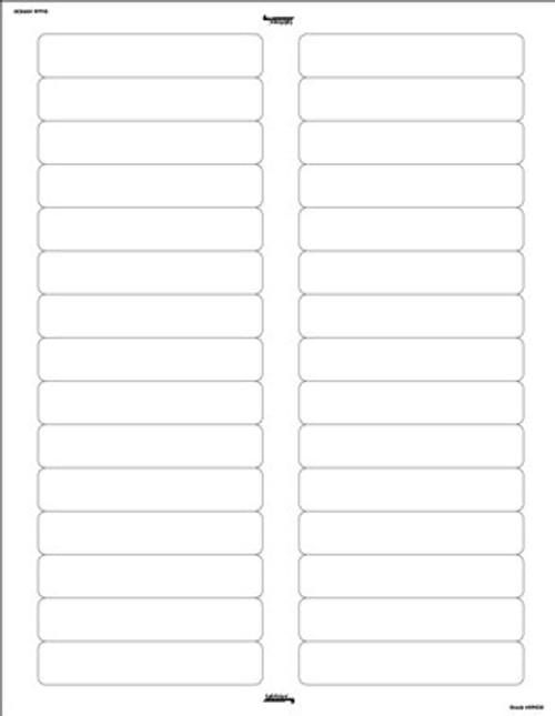 "Name Labels: White-Laser/Inkjet - Color Coded File Folder Labels - White - 3-7/16"" W x 2/3"" H - Pack of 750 Labels"