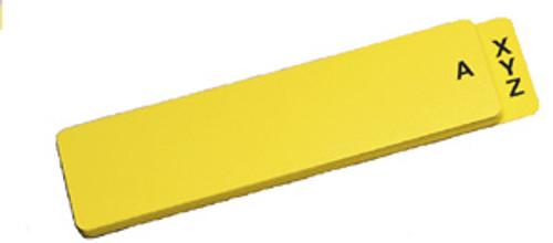 A-Z Guides: End Tab-Yellow Vinyl