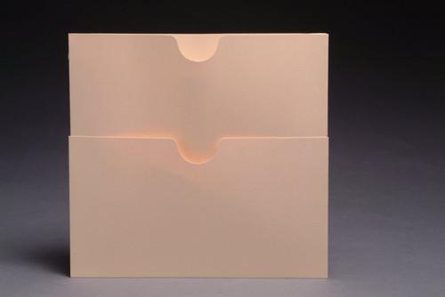 "Pocket: Self-Adhesive Double Pockets - 11 Pt. Manila - 9"" W x 8-1/2"" H - Box of 50"