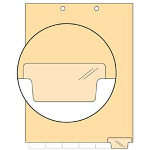 """Blank"" -  Bottom Tab Index Chart Divider- Write- on Tab in position #6 - 100/Pack"