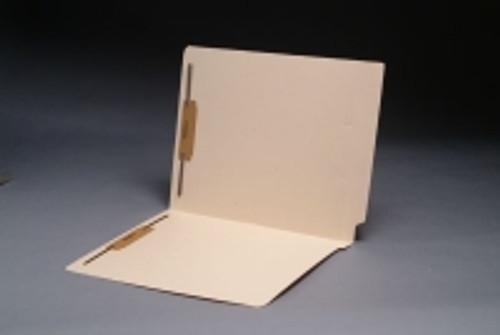 End Tab Manila Folder - Reinforced End Tab - Letter Size - 11 Pt. Manila - 2 Fasteners in Positions 1 & 3 - 50/Box