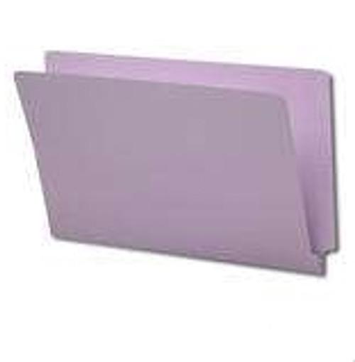 End Tab File Folder - Lavender - Letter - 11 pt - Reinforced Full End Tab - Fasteners in Positions 2 & 4 - 50/Box