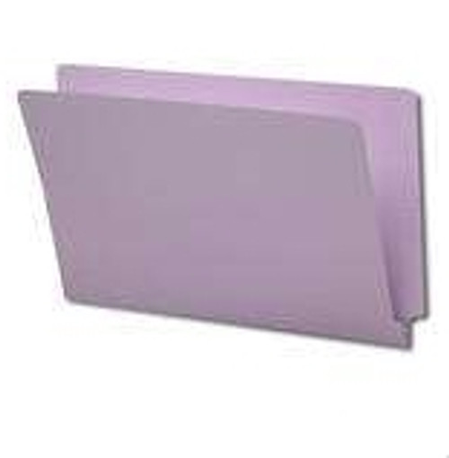 End Tab File Folder - Lavender - Letter - 11 pt - Reinforced Full End Tab - Fasteners in Positions 2 & 4 - 50/Box