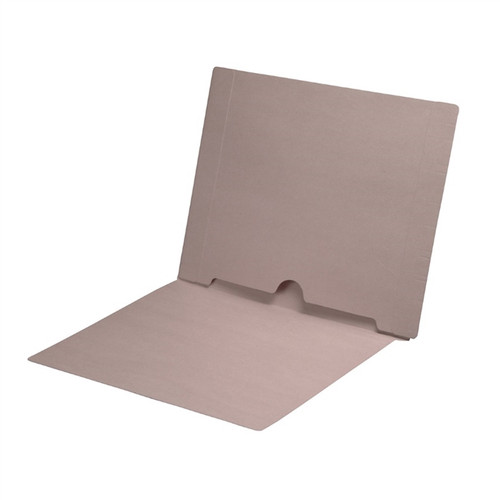 Full Size Back Panel Pocket Folder, 11 Pt. Grey Colored Stock, Full Cut End Tab - Letter Size, 50/Box