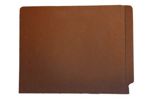 End Tab Colored File Folder - Brown - Letter Size - 11pt - Fasteners in positions 2 & 4 - 50/Box