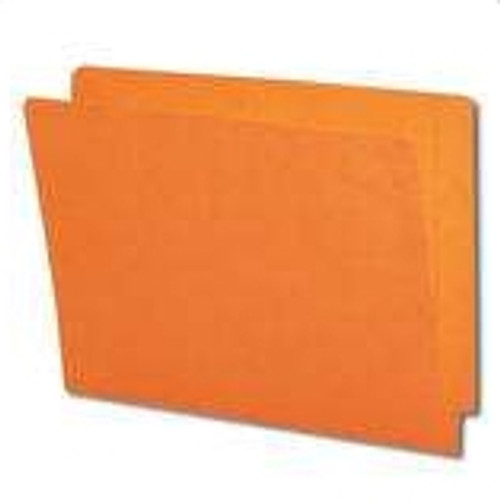 End Tab File Folder - Orange - Letter - 11 pt - Reinforced Full End Tab - Fasteners in Positions 2 and 4 - 50/Box