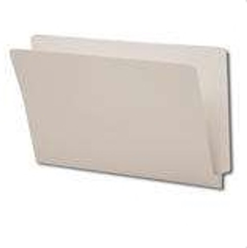 End Tab File Folder - Gray - Letter - 11 pt - Fasteners in Positions 2 and 4, Reinforced Full End Tab - 50/Box