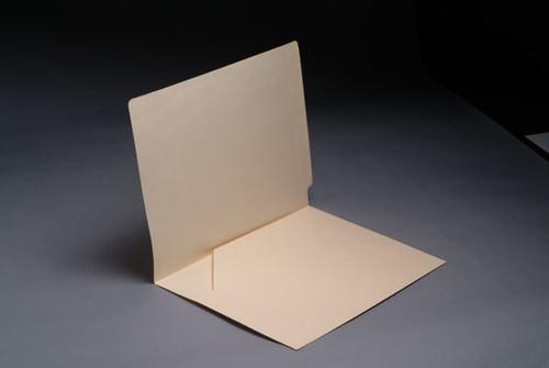 14 Pt. Manila End Tab Folder, Full Cut End Tab, Letter Size, Full Diagonal Pocket inside left - 50/Box