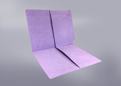 2 Pocket folder - End Tab - Color Lavender - Letter Size - Dual 1/2 Pockets Inside Front and Back - 50/Box