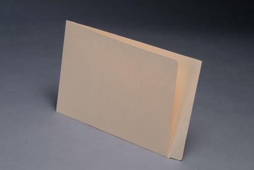 "Mini Half Pocket End Tab Folder - Full Cut End Tab - 11 Pt. Manila - 9-1/2"" W x 6"" H - 100/Box"