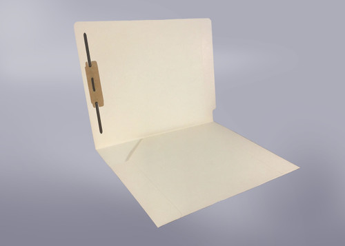 14 Pt. Manila Folder, Full Cut End Tab, Letter Size, Full Diagonal Pocket, Fastener in position 1 - 50/Box