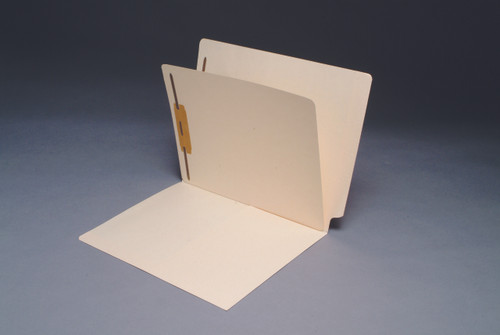 Manila End Tab Classification Folder with 1/2  Pocket inside front and Fastener in Position 1 - Divider with Fasteners on both sides - Letter Size - 50/Box