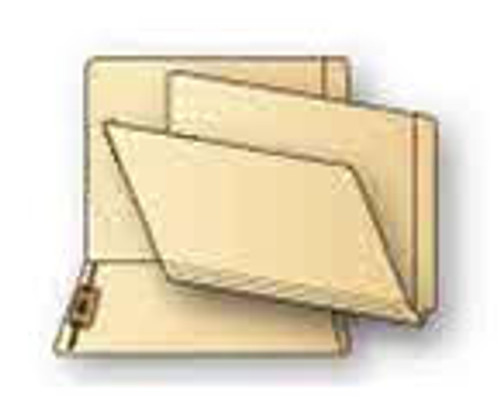 Jeter Compatible End Tab 14 Pt. Manila Folder, Single Ply Tab with Fastener in Position 3 - 100/Box
