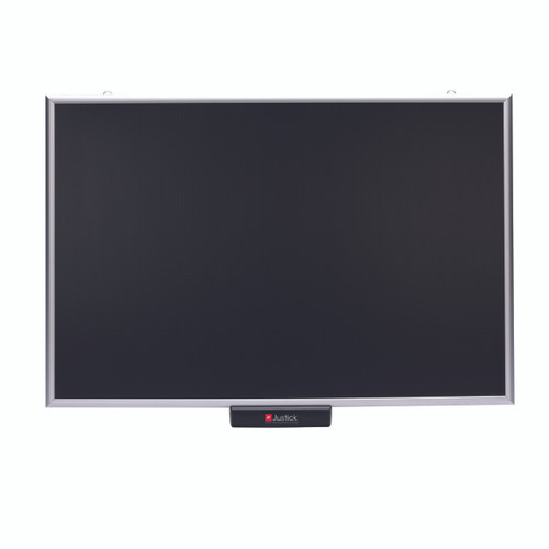 Justick 36 x 24 Standard Aluminum Frame Electro Bulletin Board Black