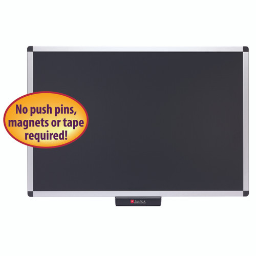 Justick 36x24 Premium Aluminum Frame Bulletin Board 02561